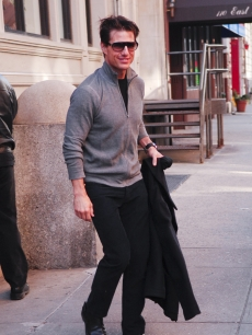 Tom Cruise walks in Manhattan