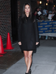 Jennifer Connelly visits the 'Late Show with David Letterman' at the Ed Sullivan Theater