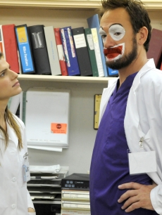 "Lake Bell as Dr. Cat Black (left) and Seth Morris as Dr. Nate Schacter (right) star in ""Childrens' Hospital,"" a new original digital series for TheWB.com"