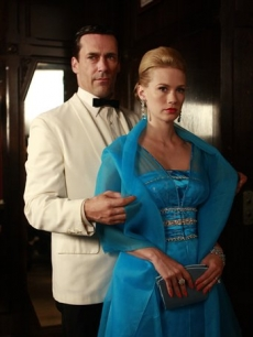 Jon Hamm and January Jones portray Don and Betty Draper in 'Mad Men'