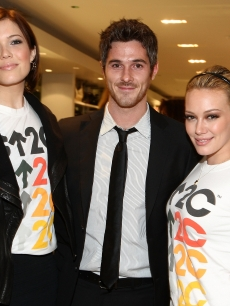 Mandy Moore, Dave Annable and Hilary Duff attend the Stand Up 2 Cancer merchandise launch at Kitson in Hollywood