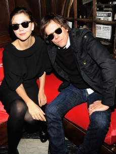 Maggie Gyllenhaal and Kevin Bacon kick back in Raybans in NYC