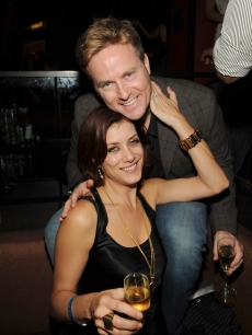 Kate Walsh and her husband Alex Young attend Tao Nightclub's three year anniversary celebration in The Venetian Hotel and Casino Resort on November 8, 2008