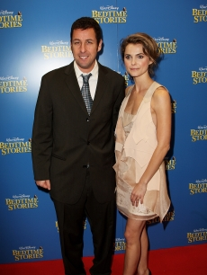 Adam Sandler and Keri Russell attend the UK premiere of &#8216;Bedtime Stories&#8217; at the Odeon Cinema, Kensington High Street on December 11, 2008