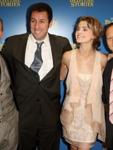 Adam Shankman, Adam Sandler, Keri Russell and Rob Schneider attend the UK premiere of 'Bedtime Stories'
