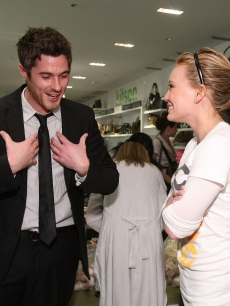 Dave Annable & Hilary Duff at Kitson