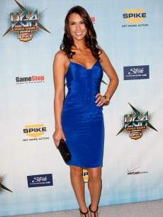 Sarah Larson arrives at Spike TV's 2008 'Video Game Awards' held at Sony Pictures'