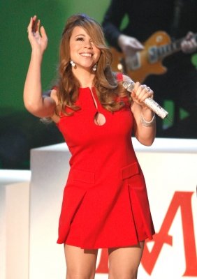 Mariah Carey performs onstage during the Grammy Nominations concert live held at the Nokia Theatre LA Live on December 3, 2008