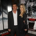 Dennis Quaid and wife Kimberley attend the premiere of 'Vantage Point' at AMC Lincoln Square on February 20, 2008 in New York City