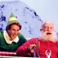 Will Ferrell as Buddy with Ed Asner as Santa in &#8216;Elf&#8217;