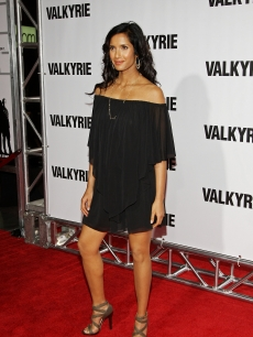 Padma Lakshmi attends the premiere of 'Valkyrie' at Rose Hall inside the Time Warner Center on December 15, 2008 in New York City
