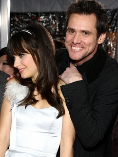 Zooey Deschanel and Jim Carrey arrive at the premiere of Warner Bros. Picture's 'Yes Man'