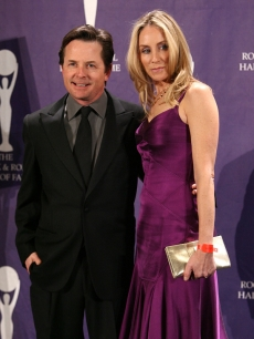 Michael J. Fox and Tracy Pollan in New York (March 2008)