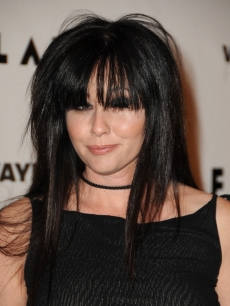 Shannen Doherty brings her bangs to Flaunt Magazine's 10th anniversary party in Los Angeles