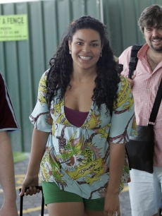 Jordin Sparks arrives at Perth Airport on December 19, 2008 in Perth, Australia