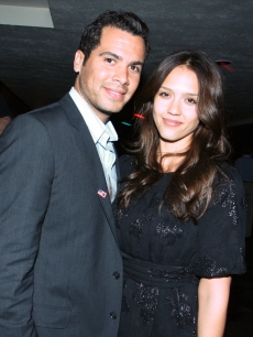 Jessica Alba and husband Cash Warren at a concert in August 2008