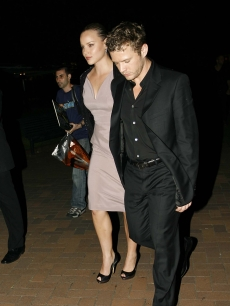 Ryan Phillippe and girlfriend Abbie Cornish on their way to a Calvin Klein event at Sydney's Cockatoo Island