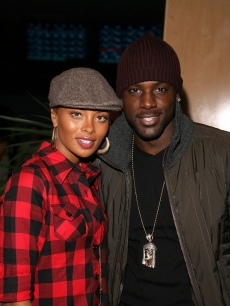 Actress/model Eva Pigford and actor Lance Gross attend Akon & Holly Robinson Peete's Children's Holiday Bowl at the Lucky Strike Lanes in Los Angeles