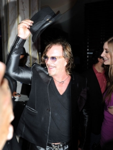 Mickey Rourke enjoys New Year's Eve at Fontainebleau in Miami Beach, Florida
