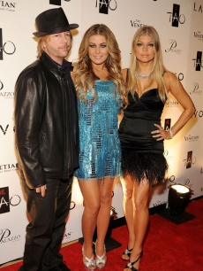 David Spade, Carmen Electra and Fergie hit The Palazzo in Las Vegas for a New Year's Eve bash hosted by Fergie
