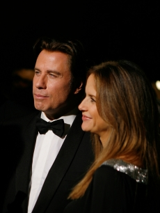 John Travolta and wife Kelly Preston attend the Santa Barbara International Film Festival honoring John Travolta with the Kirk Douglas award, 2007