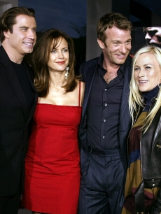 John Travolta, Kelly Preston, Thomas Jane and Patricia Arquette attend the Los Angeles premiere of the Lion's Gate film 'The Punisher' at the ArcLight Cinerama Dome April 12, 2004 in Hollywood, California