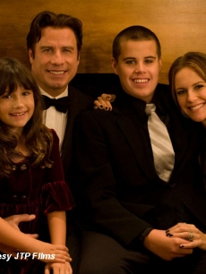 John Travolta and Kelly Preston with daughter Ella and son Jett