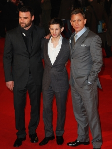 Liev Schreiber, Jamie Bell and Daniel Craig arrive at the European Premiere of 'Defiance' in London