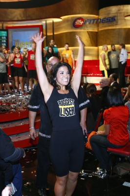 "Michelle Aguilar Celebrates Her ""Biggest Loser"" win"