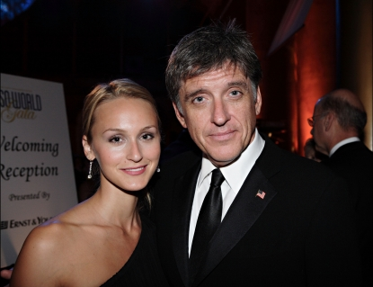 Comedian/television host Craig Ferguson and Megan Wallace Cunningham at the annual The USO World Gala at the National Building Museum on September 20, 2007 in Washington, DC.