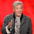 Sir Ian McKellen speaks during the PBS portion of the 2009 Winter Television Critics Association Press Tour at the Universal Hilton Hotel on January 7, 2009 in Los Angeles, California