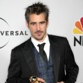 Colin Farrell, winner Best Performance by an Actor in a Motion Picture - Musical Or Comedy for 'In Bruges,' arrives at the NBC, Universal Pictures and Focus Features' official after party