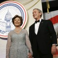 Laura and George W. Bush at Inauguration Day 2005