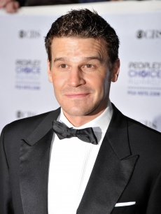 The photographers catch 'Bones' star David Boreanaz gearing up to smile on the red carpet