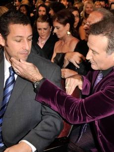 Adam Sandler and Robin Williams in the crowd of the People's Choice Awards
