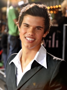 Taylor Lautner at the 'Twilight' premiere in Westwood