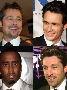 Brad Pitt, James Franco, Sean Combs, Patrick Dempsey