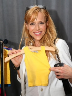 Julie Benz checks out Michael Stars' Mikey Stars Baby Couture at Access' Stuff You Must lounge