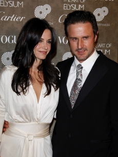 Courteney Cox Arquette and David Arquette arrive at The Art of Elysium black tie gala in LA