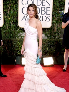Sandra Bullock arrives at the 66th Annual Golden Globe Awards