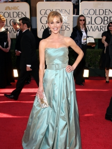 Actress Julie Benz arrives at the 66th Annual Golden Globe Awards held at the Beverly Hilton Hotel