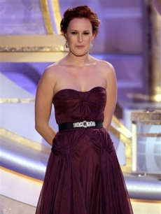 Rumer Willis smiles as she is singled out as Miss Golden Globe