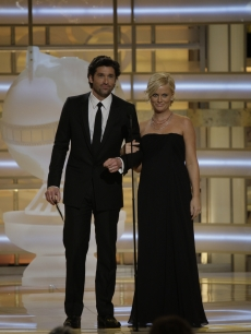 Patrick Dempsey and Amy Poehler take the Globes stage