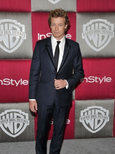 Simon Baker from 'The Mentalist' visits the Warner Bros. In Style Party following the 2009 Golden Globes