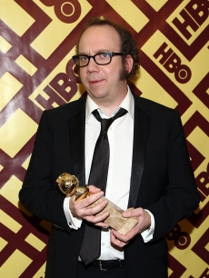 Globe winner Paul Giamatti celebrates his win at HBO's after party
