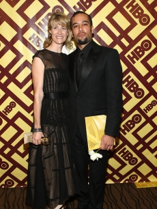 Golden Globes winner Laura Dern and Ben Harper attend HBO's after party