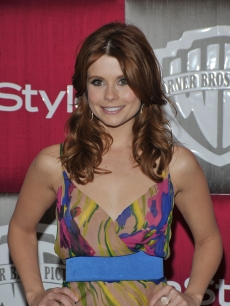 Joanna Garcia arrives at the Warner Bros. In Style Golden Globes after party