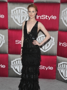 Evan Rachel Wood also visits the Warner Bros. In Style after party