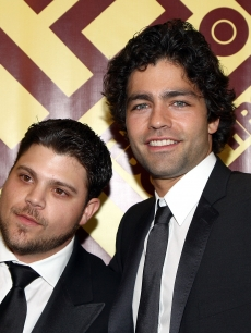 Jerry Ferrara and Adrian Grenier arrive at the official HBO after party for the 66th Annual Golden Globe Awards