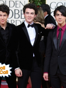 Nick, Kevin, and Joe Jonas of 'The Jonas Brothers' arrive at the 66th Annual Golden Globe Awards
